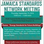 Jamaica Standards Network Meeting